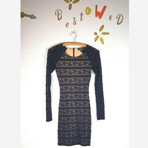 Long sleeve lace Bebe dress